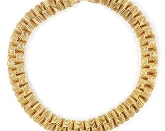 Vintage Gold-tone c. 1950's Linked Necklace