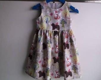 Woodland friends fawn dress