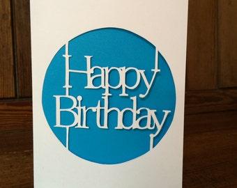 Happy Birthday Paper Cut Card