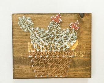 Cactus String Art Board// Succulent String Art Board