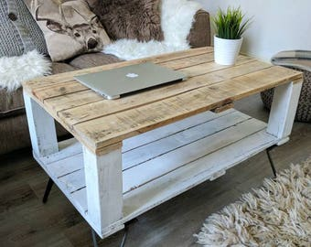 Reclaimed Pallet Coffee Table AHVIMA In Farmhouse Style