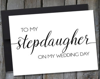 To My Stepdaughter On My Wedding Day Note Card | Wedding Day Notecards | Customizable Notecards