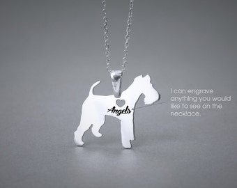 WIRE FOX Terrier NAME Necklace - Wire Fox Terrier Name Jewelry - Personalised Necklace - Dog breed Necklace- Dog Necklace