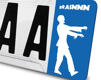 Zombie decal for license plates