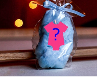 30 Gender Reveal Cotton Candy Party Favors