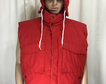 NAUTICA down hooded vest • Large L