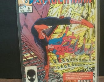 1985 Web Of Spider-man #6 Combination Cover The Beyonder, Secret Wars II Crossover  Good-VG Vintage Marvel Comic Book
