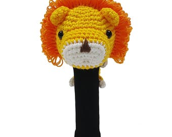 Hand Stitched Yarn Animal Driver/Wood Golf Head Cover - Lion