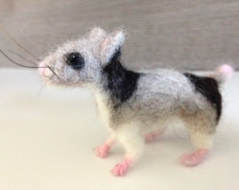 Cute hand-made felt mouse