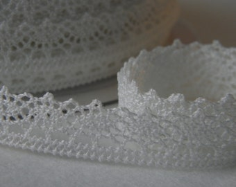Drc2 white - COLLAR 02 - FROU FROU - Ribbon lace cotton - sold by 10 cm.