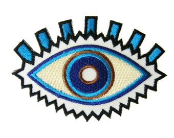Blue Eye Patch Eye Iron on Patch  Applique Iron on Patch