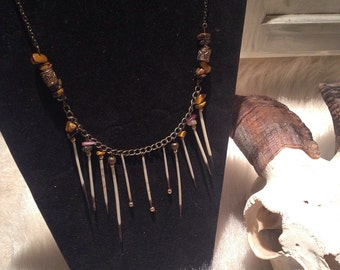 Porcupine quills necklace