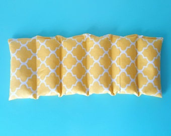 Rice bag / yellow design  / rice heating pad / pain relief / heat and cold therapy pack / relaxation/ microwavable