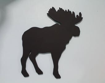 Hanging Black Chalkboard Moose
