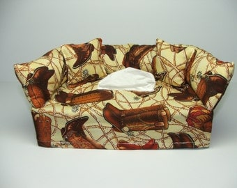 Boots & Rope fabric tissue box cover.