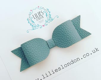 Slate blue  hair bow