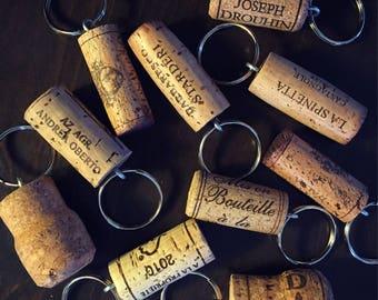 Wine + Champagne Cork Keychains