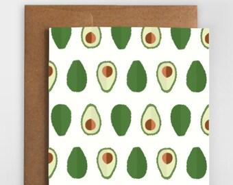 """Grußkarte """"Avocado"""""""
