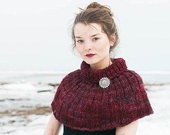Two Ribbed Capelets PDF KNITTING PATTERN