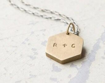 Personnalisé initiales collier - la Saint-Valentin, anniversaire, mariage, meilleurs amis, s'en aller