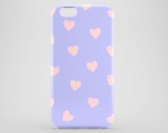 Etui de coeurs bleu lila / sérénité téléphone cas / Saint-Valentin téléphone cas / cas d'iPhone et Samsung Galaxy