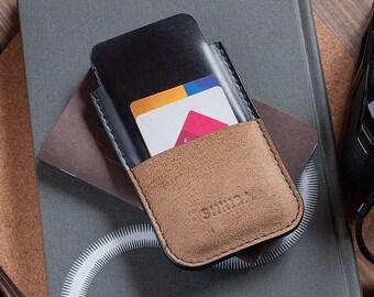 IPhone noir Horween Chromexcel 6 Leather Case Sleeve Wallet