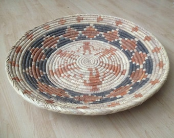 Tribal Southwestern Baskets, Traditional Man in the Maze and Friendship Baskets. Circa 1980's  1990's