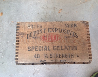 DuPont Explosive box from 1929