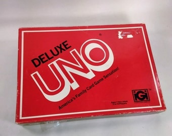 Delux Uno American Family Card Game/Age 7 And Up/2 To 10 Players/Used Great Condition
