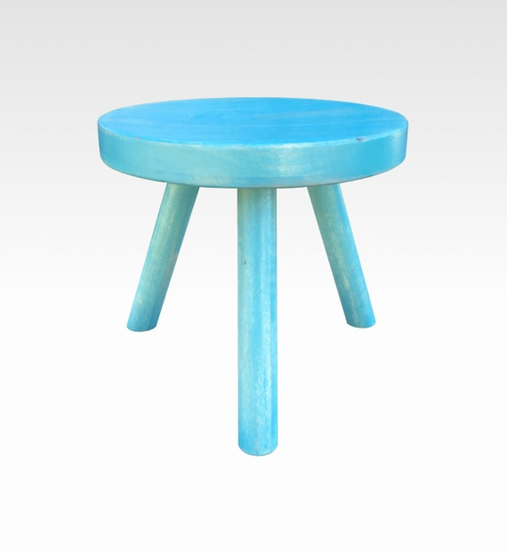 Small Wood Three Legged Stool Modern Plant Stand in Honey by Candlewood Furniture Wooden Tea Table Kids Chair Decorative  sc 1 st  Etsy & Small Wood Three Legged Stool Modern Plant Stand in Honey by islam-shia.org