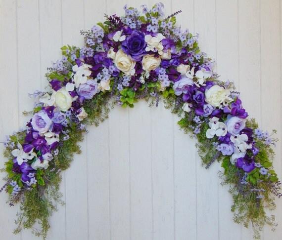 Purple Wedding Arch Decoration Ideas: PURPLE FLORAL SWAG Wedding Arch Swag Wedding Flowers