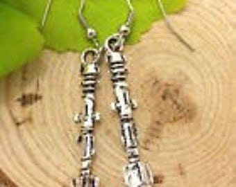 Silver Charms Dr Who Sonic Screwdriver Earring