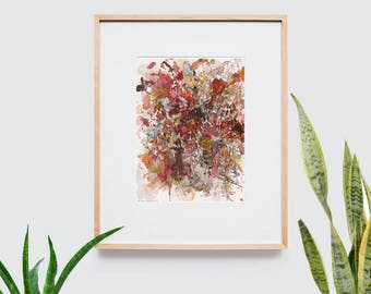 Abstract art composition - Contemporary art - Watercolor Print - Limited edition. Battle III.