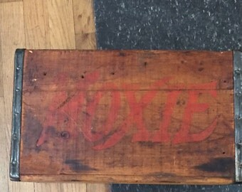 Antique Moxie Soda Wooden Crate