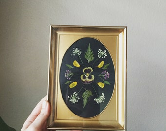 Pressed Palm Leaf Botanical Framed 11x14 By