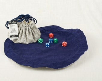 Large lie-flat dice bag (Gray/Blue)