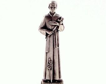 St Gerard Miniature Italian Religious Pocket Statue Patron of Childbirth, Pregnancy and Fertility   Italian Rosary Parts