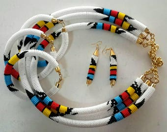Rope earrings etsy for How to make african jewelry crafts