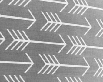 Grey Arrows Crib Sheet