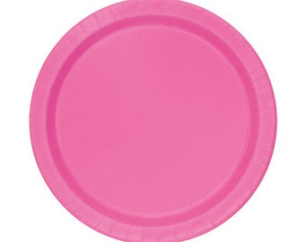 Diva Pink Dessert Paper Plates (7in.)  70ct