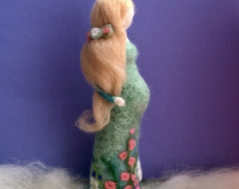 Being Mother soon! Needle Felted Pregnant Woman  Wool Felted Mother   Needle Felted Doll  Waldorf Doll  Baby  Shower Present  Gift