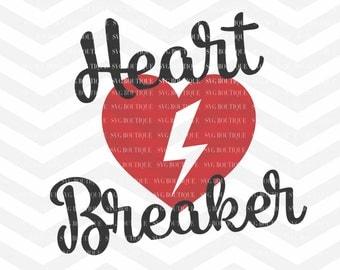 Heartbreaker SVG File, Heartbeat SVG, Valentine's Day,  Boy Valentine svg, SVG Cutting File, Cricut, Silhouette, Family svg, png dfx