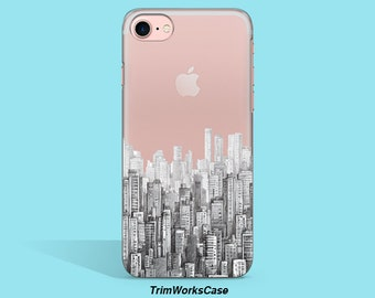 Architecture iPhone 6s Case City Silhouette iPhone Case Transparent iPhone 6 Case Clear iPhone 6s Case Architecture Samsung Galaxy S6 Case