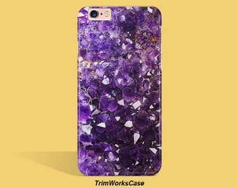 amethyst iPhone 6 Case iPhone 6 Plus Case iPhone 7  Case Amethyst Galaxy S4 Case Purple Stone Samsung Galaxy S5 Case Samsung Galaxy S6 Case