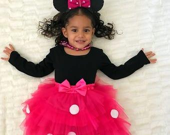 Swarovski Minnie Mouse, Minnie Mouse ears,minnie Mouse outfit,minnie mouse tutu, pink Minnie Mouse,minnie ears,minnie mouse birthday outfit