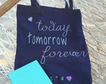 Honeymoon Tote Bag, Anniversary Gift, Wedding Gift, Tote Bag