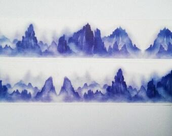 Design Washi tape blue mountains mountains