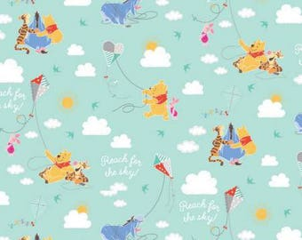 Pooh honey comb-  pooh and friends -winnie the pooh fabric- disney fabric - tigger pigglet -  Eeyore -pooh  fabric- material -se