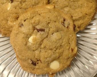 Double Chocolate Chip Pecan Oatmeal Cookies - Homemade, 1 Dozen