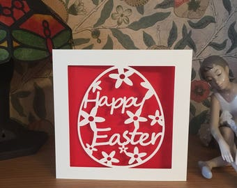 Easter Card - Papercut - Happy Easter Card - Egg Card